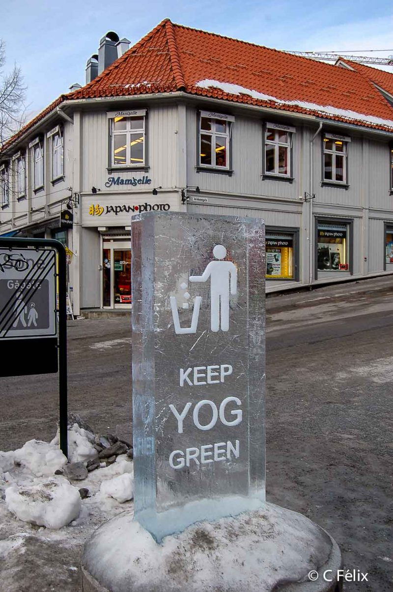 Ice Poster, Downtown Lillehammer.